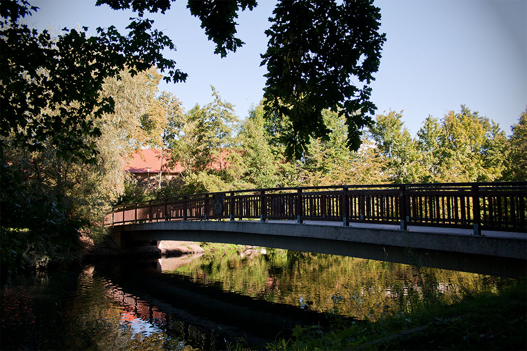 Die Kirchteichbrücke wurde 1996 errichtet.